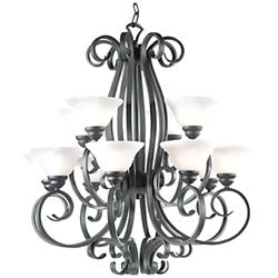 "Franklin Iron Works Manchester 32"" Wide Two Tier Chandelier"