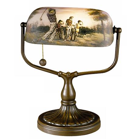 Dale Tiffany Handale Golf Bankers Desk Lamp