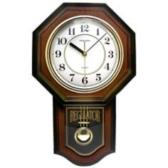 "Vienna Brown Pendulum 18 3/4"" High Wall Clock"