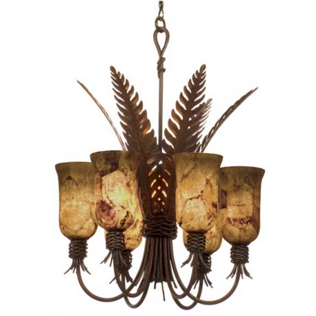 Bari Collection Tortoise Shell Finish 8-Light Chandelier