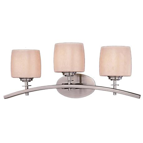 Minka Raiden 3-Light Brushed Nickel Bath Light