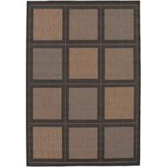 Tiles Cocoa-Black Outdoor Rug