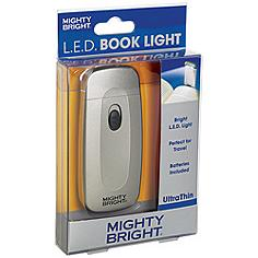 Mighty Bright Ultrathin LED Silver Book Light