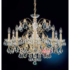"Schonbek Century Collection 26"" Wide Crystal Chandelier"