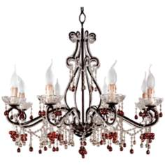 Parisian Eight Light Amber Chandelier