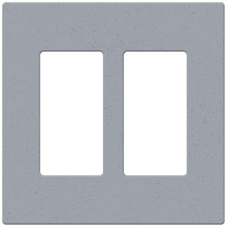 Lutron Bluestone Satin Two Gang Screwless Faceplate