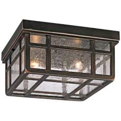 "Mission Hills 10 1/2"" Wide Indoor - Outdoor Ceiling Light"