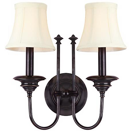 Hudson Valley Yorktown Old Bronze 2-Light Wall Sconce