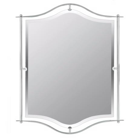 "Quoizel Demitri Chrome 32"" High Wall Mirror"