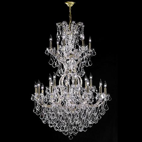 Maxfield Collection 25 Light Gold Crystal Chandelier