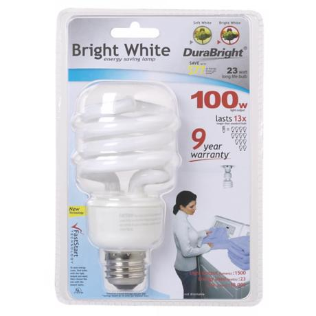 Bright White 23 Watt CFL Light Bulb
