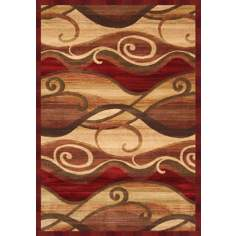 Waves Cinnabar Area Rug