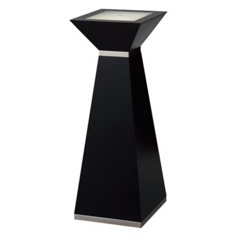 "Nova 31"" High Frosted Glass Square Lighted Pedestal"