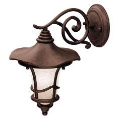 "Kichler Rustic Bronze 12 1/2""  Down Mount Outdoor Wall Light"