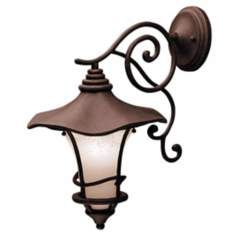"Kichler Weathered Bronze 19""  Down Mount Outdoor Wall Light"