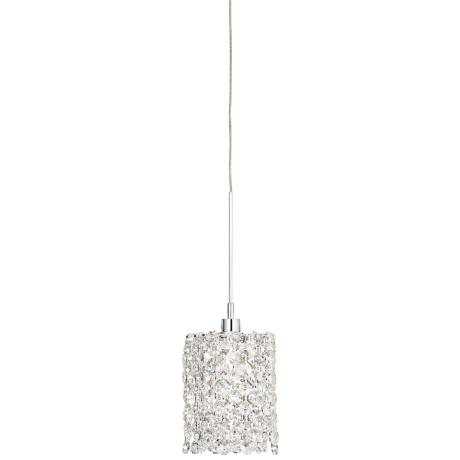 "Geometrix Refrax 4"" Wide Spectra Crystal Mini Pendant Light"