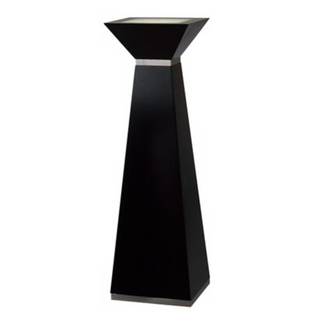 "Nova 37"" High Frosted Glass Square Lighted Pedestal"