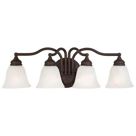 "Murray Feiss 25"" Wide Oil Rubbed Bronze 4 Light Bath Fixture"