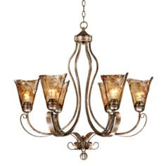 "Franklin Iron Works™ Amber 31 1/2"" Wide Chandelier"
