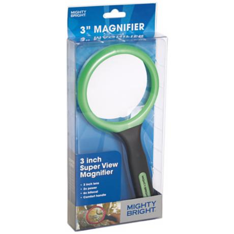 "Mighty Bright Green 3"" Wide Magnifier"