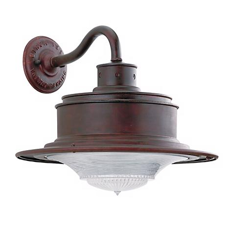 "South Street 12"" High Outdoor Old Rust Wall Light"