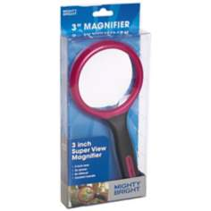 "Mighty Bright Red 3"" Wide Magnifier"