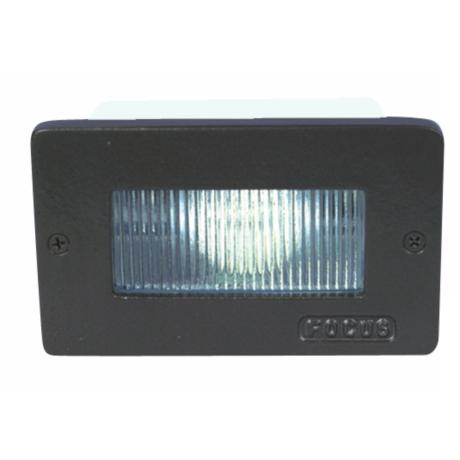 Black Stair Step Light with Spread Lens