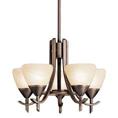 "Olympia Collection Olde Bronze 16 1/2"" Wide Chandelier"
