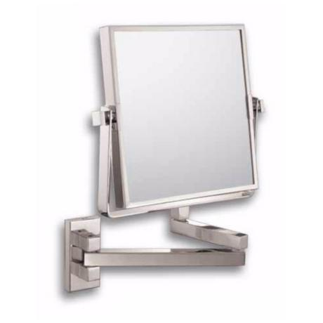 "Double Arm Brushed Nickel Vanity 7 1/2"" High Wall Mirror"