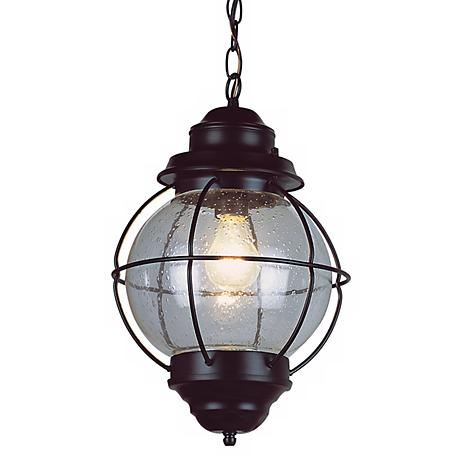 "Tulsa Lantern 13 1/2"" High Black Hanging Light Fixture"