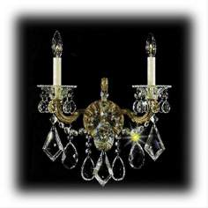 Schonbek La Scala Two Light Crystal Wall Sconce