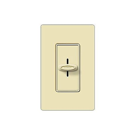 Lutron Skylark 600W Single Pole Slide Almond Dimmer