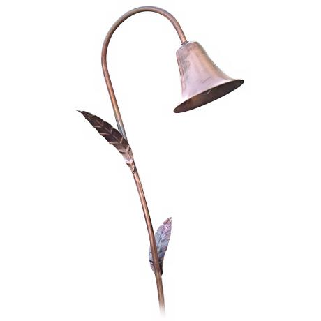 Spun Copper Bell Hat Low Voltage Landscape Light