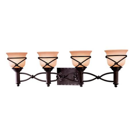 "Minka Knotted Iron 34 3/4"" Wide Four Light Bathroom Fixture"