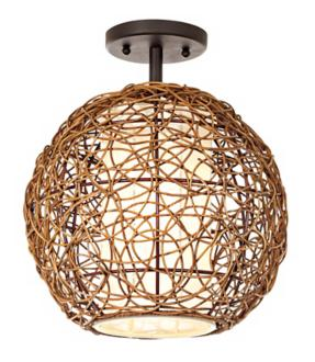 Organic Rattan Ceiling Light