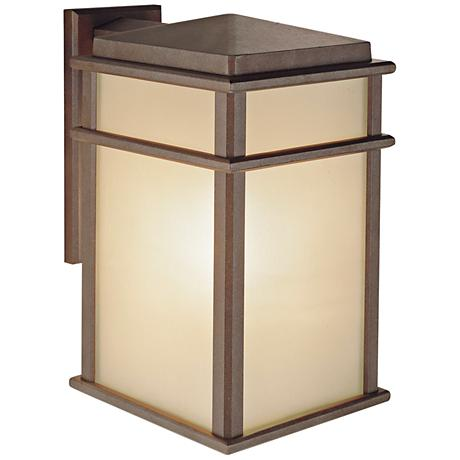 "Feiss Mission Lodge 15"" High Outdoor Wall Lantern"
