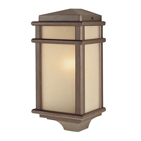 Feiss Mission Lodge Pocket Wall Mount Outdoor Lantern