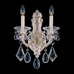 Schonbek La Scala Collection 2-Light Crystal Wall Sconce