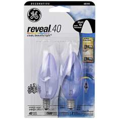 Blunt–Tip 40 Watt Candelabra Base 2–Pack Light Bulbs