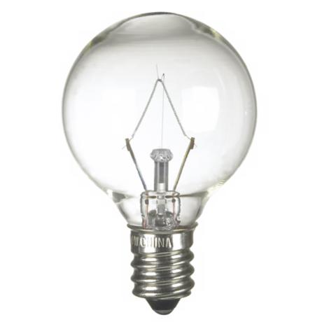 40-Watt G-11 Krypton Clear Candelabra Base Light Bulb