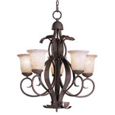 High Country Collection Olde Iron Outdoor Chandelier