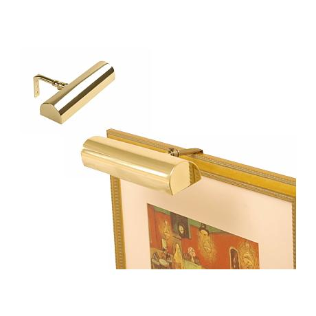"Concept 7 3/4"" Wide Polished Brass Cordless Picture Light"