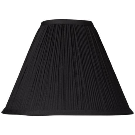 Black Mushroom Pleated Lamp Shade 4X11X8.5 (Spider)