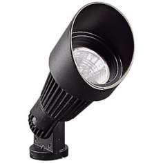 Black Hooded Low Voltage Landscape Spot Light