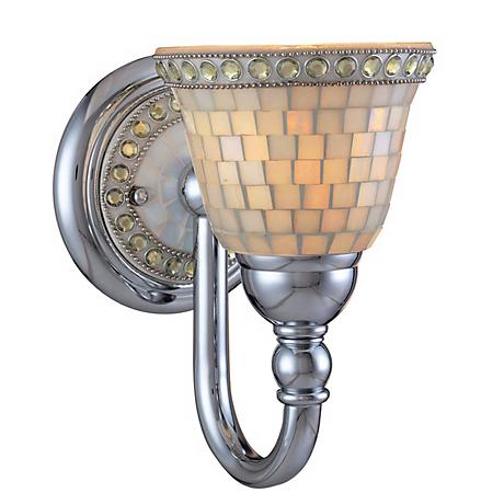"Minka Chrome Mosaic  9 1/2"" High Wall Sconce"