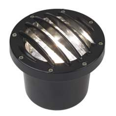 Black Die-Cast Aluminum In-Ground Well Light