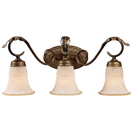 "Briarcliff Collection Weathered Umber 24"" Wide Bath Light"