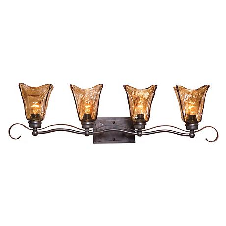 "Uttermost Vetraio Collection 34"" Wide Bathroom Light Fixture"