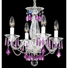 "Schonbek Allegro Amethyst 14"" Wide Mini Chandelier"