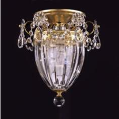 "Schonbek Bagatelle Collection 8"" Wide Crystal Ceiling Light"
